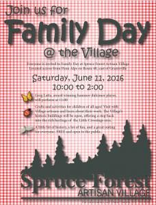 spruce village family day